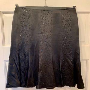 Laundry by Shelli Segal Black Sequin Skirt